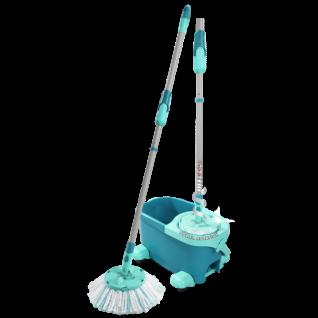 Leifheit clean twist disc mop ergo - dweil compleet systeem met wieltjes